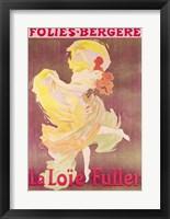 Framed Poster advertising Loie Fuller