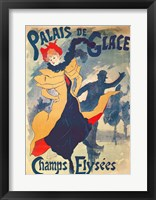 Framed Poster advertising the Palais de Glace on the Champs Elysees
