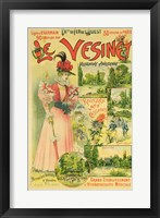 Framed Poster for the Chemins de Fer de l'Ouest to Le Vesinet