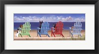 Rainbow Chair Tails Framed Print