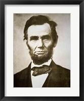 Framed Abraham Lincoln - black and white