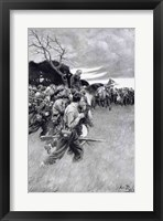 Framed 'His army broke up and followed him, weeping and sobbing'