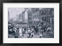 Framed Carnival at Philadelphia, illustration from 'The Battle of Monmouth Court House'