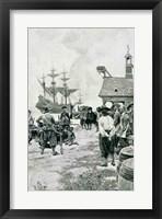 Framed Landing at Jamestown from a Dutch Man-of-War