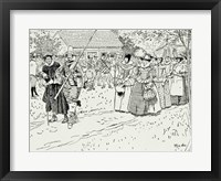 Framed Arrival of the Young Women at Jamestown
