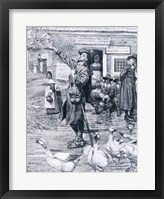 Framed Quaker Exhorter in New England, illustration from 'The Second Generation of Englishmen in America'