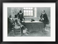 Framed Sir William Berkeley Surrendering to the Commissioners of the Commonwealth, illustration from 'In Washington's Day'