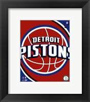 Framed Detroit Pistons Team Logo