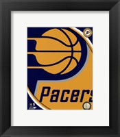 Framed Indiana Pacers Team Logo