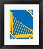 Framed Golden State Warriors Team Logo