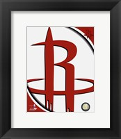 Framed Houston Rockets Team Logo