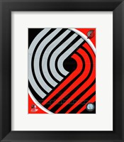 Framed Portland Trail Blazers Team Logo