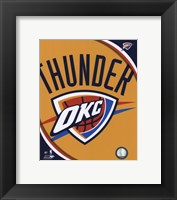 Framed Oklahoma City Thunder Team Logo