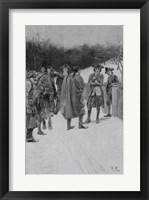 Framed Paul Revere Bringing News to Sullivan