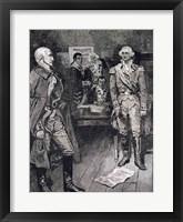 Framed Washington Refusing a Dictatorship