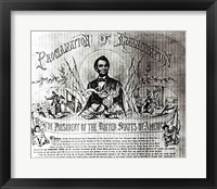 Framed Proclamation of Emancipation by Abraham Lincoln, 22nd September 1862