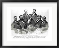 Framed First Colored Senator and Representatives