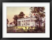 Framed Washington's Home, Mount Vernon, Virginia