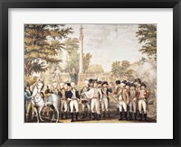Framed British Surrendering to General Washington after their Defeat at Yorktown