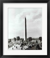 Framed Washington Monument and Surroundings, North View