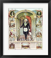 Framed George Washington as a Freemason