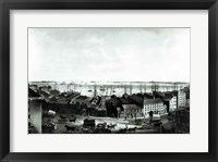 Framed Boston Harbour, 1854