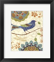 Eastern Tales Birds I Framed Print