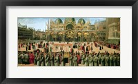 Framed Procession in St. Mark's Square, 1496