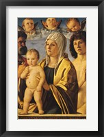 Framed Virgin and Child with St. Peter and St. Sebastian