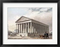 Framed Exterior view of the Madeleine, Paris