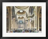 Framed Interior of La Madeleine, Paris