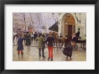 Framed Boulevard des Capucines and the Vaudeville Theatre, 1889
