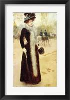 Framed Parisian Woman in the Bois de Boulogne