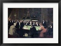 Framed Gaming Room at the Casino, 1889