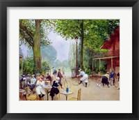 Framed Chalet du Cycle in the Bois de Boulogne, c.1900