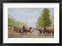 Framed Promenade on the Champs-Elysees