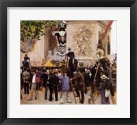 Framed Funeral of Victor Hugo