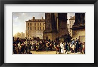 Framed Conscripts of 1807 Marching Past the Gate of Saint-Denis