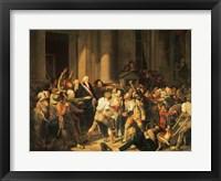 Framed Act of Courage of Monsieur Defontenay, Mayor of Rouen