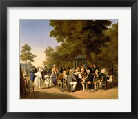 Framed Politicians in the Tuileries Gardens, 1832