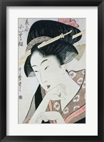 Framed Bust portrait of the heroine Kioto of the Itoya
