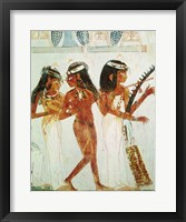 Framed Musicians and a Dancer, from the Tomb of Nakht