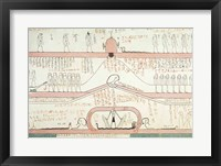 Framed Scene from the Book of Amduat showing the journey to the Underworld