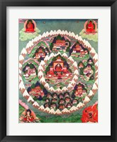 Framed Paradise of Shambhala, Tibetan Banner