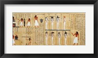 Framed Mythological papyrus of Imenemsaouf