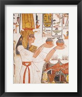 Framed Nefertari Making an Offering, from the Tomb of Nefertari