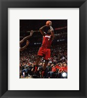 Framed LeBron James 2010-11 Playoff Action
