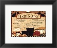 Framed Mom's Diner