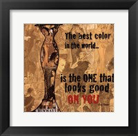 Best Color Framed Print