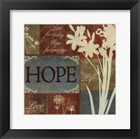 Framed Caribbean Sky Hope